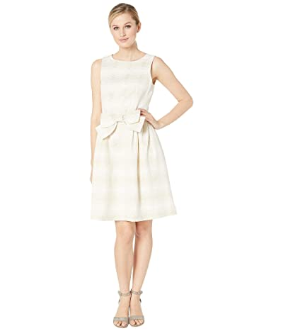 Tahari by ASL Sleeveless Metallic Jacquard Cocktail (Champagne/Gold) Women