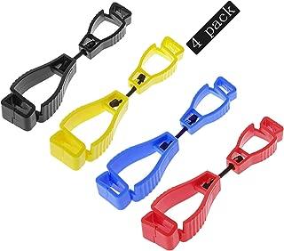 Laleonpame 4 pack Glove Clip Holder Work Safety Clip Gloves Grabber Keeper,Glove Clips For Construction, Glove Clip Holder(Red,Yellow,Black,Blue)