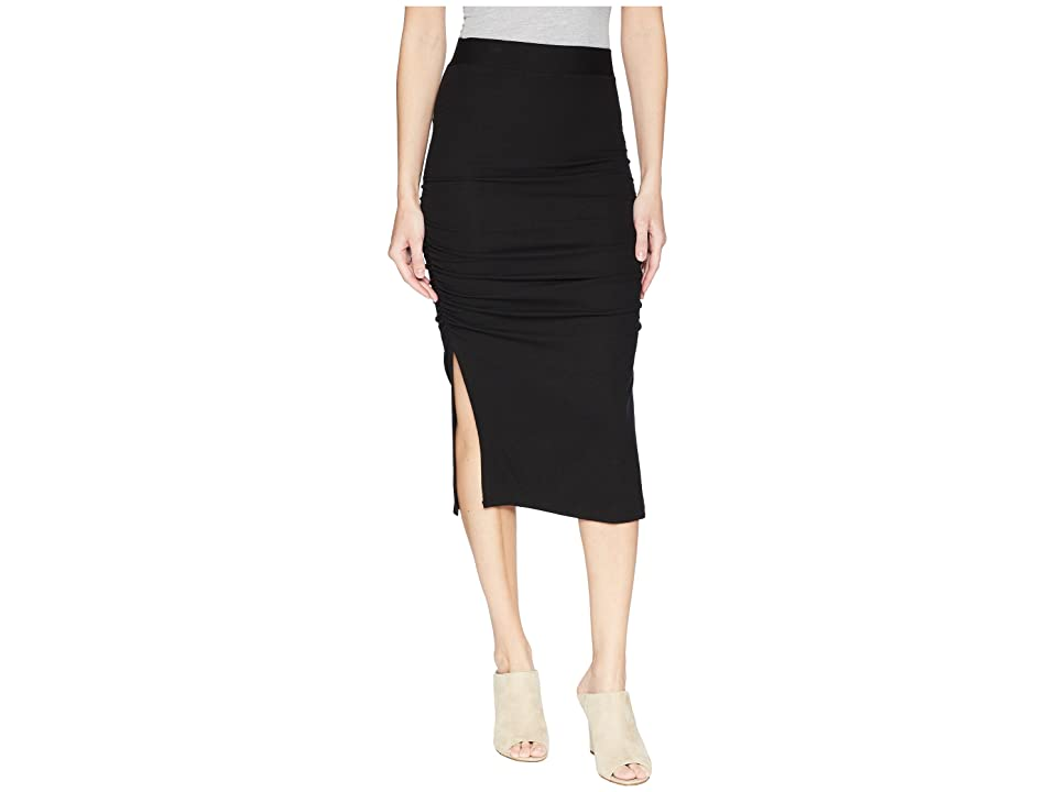 LAmade Gathered Midi Skirt (Black) Women's Skirt