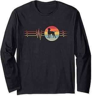 Retro Heartbeat German Shorthaired Pointer Dog Lifeline  Long Sleeve T-Shirt