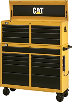 """Cat 19-Drawer Ball-Bearing Tool Chest and Cabinet Combination, 52"""" W - Designed, Engineered and Assembled in the USA: image"""