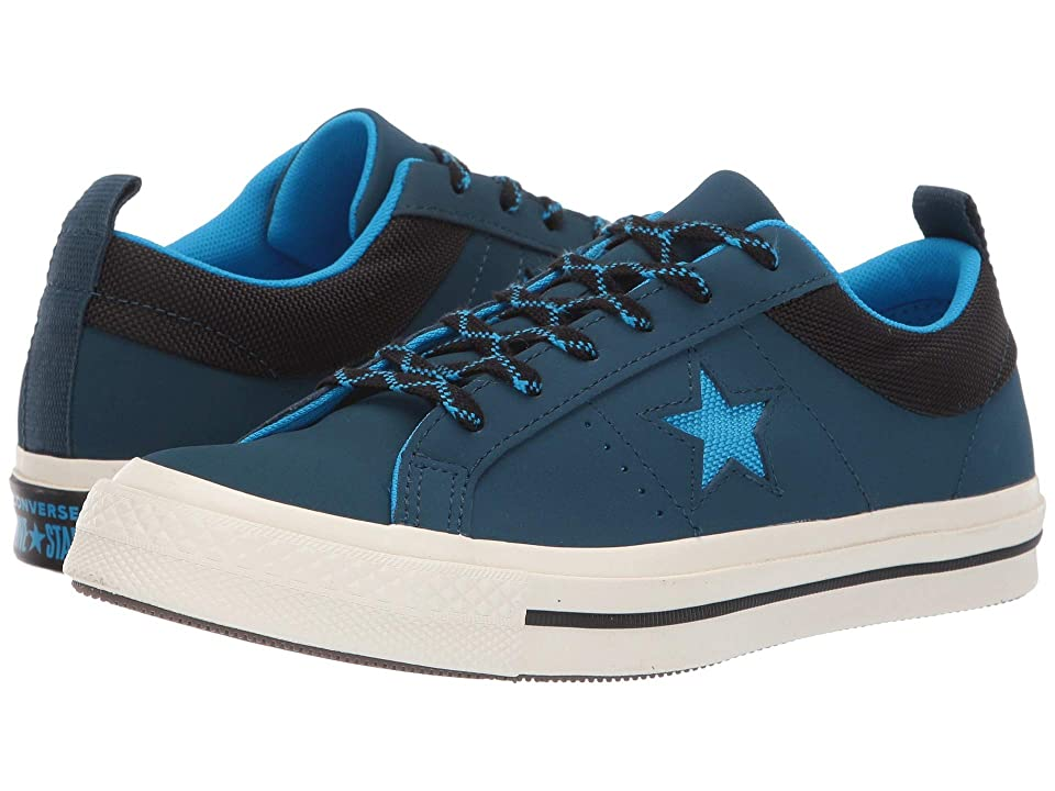Converse Kids One Star Ox (Big Kid) (Blue Fir/Blue Heo/Black) Boys Shoes