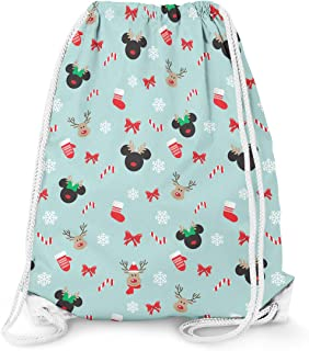 Small Minnie Rock The Dots Disney Inspired Drawstring Bag 11.7 x 14.6