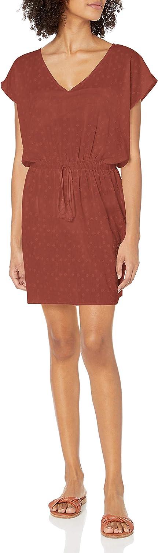 Seafolly Women's Standard Textured Cotton Kaftan Swimsuit Cover Up Dress
