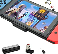 GULIkit Route Air Pro Adaptador Bluetooth para Nintendo Switch/Switch Lite PS4 PC, Transmisor Bluetooth Audio con aptX de Baja Latencia Compatible con Airpods Bose Sony y Auriculares Bluetooth