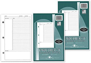 160 Sheets 3-Ring 8.5'' x 5.5'' Project Planner Refill Paper College Ruled Increase Focus and Organization Work Home Schoo...