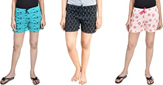 Unknown Women Regular Shorts (Pack of 3)
