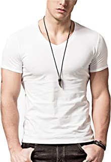 Wiekose 2 Pack Gym Mens Short V-Neck T-Shirt
