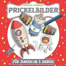 Prickelbilder Für Jungen ab 3 Jahren. Prickeln und Ausmalen.: Ausschneiden, Prickeln und Basteln. Prickel-Block Motive Für...
