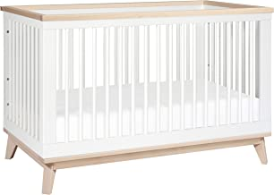 Babyletto Cuna Convertible, color Blanco Y Madera Clara,