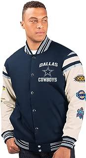 Dallas Cowboys 5 Time Super Bowl Champions Victory Formation Commemorative Varsity Jacket