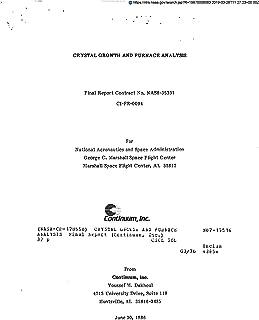 Crystal growth and furnace analysis