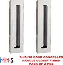 MHS Aluminium Concealed Handle for Sliding Door SS Chrome Glossy Finish 96 MM Pack of 2