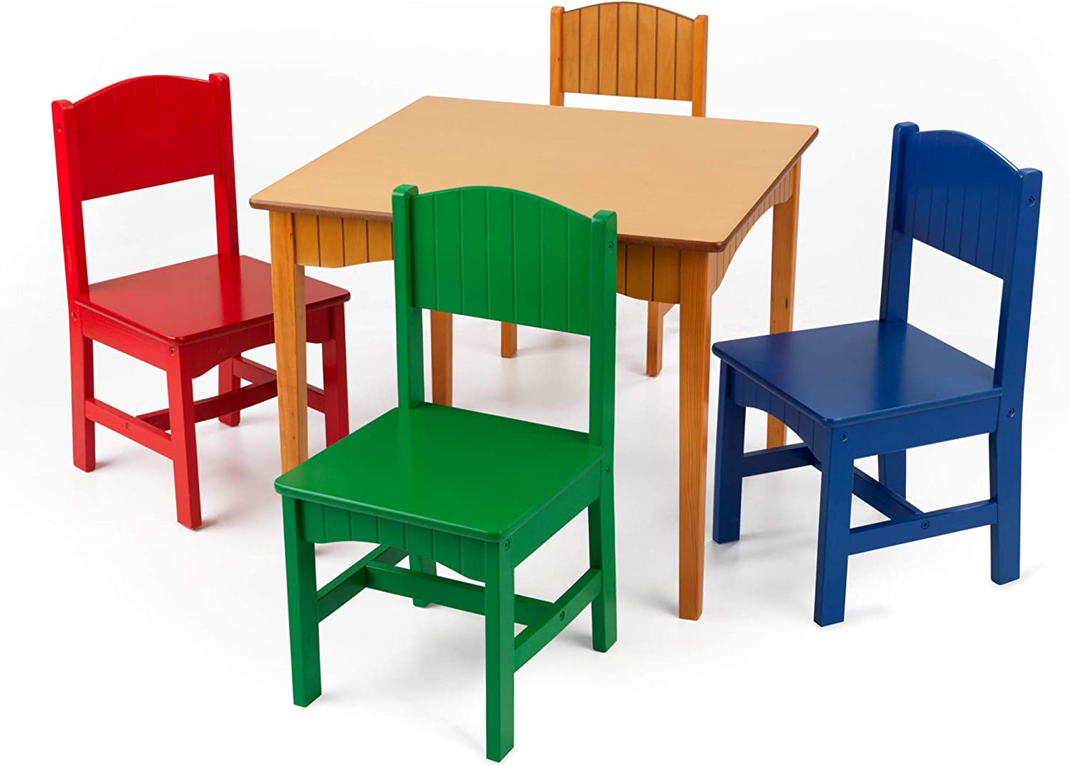 KidKraft Nantucket Popularity Kid's Wooden Table NEW before selling ☆ Chairs Wainsc 4 Set with