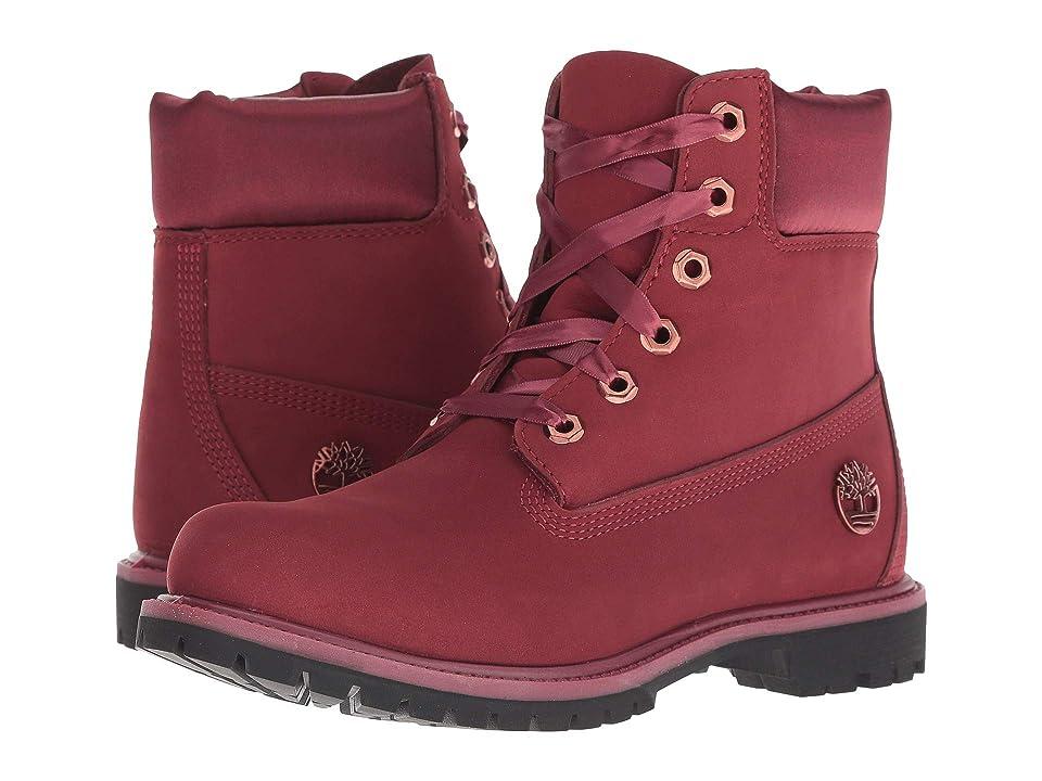 9b681d86ceb5 Timberland 6 Premium Waterproof Boot (Burgundy Nubuck) Women
