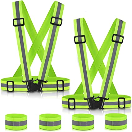 Adjustable Night Running Cycling Vest High Visibility Security Reflective Belt