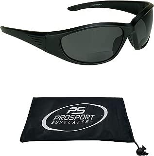 proSPORT Polarized Bifocal Sunglasses for Men and Women. Full Sport Wrap Frame with Premium Anti Glare Polarized Lenses