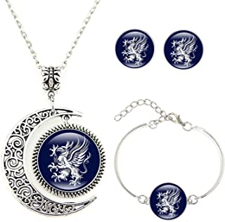 Pendant Necklaces Dragon Age Logo Pendant Necklace Silver Plated Handmade Round Fasion Vintage Chain Choker Statement Necklace Women Jewelry Gift