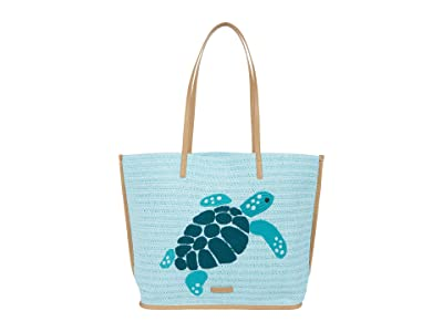 Vera Bradley Straw Tote (Mint Straw) Handbags