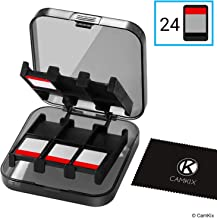 CamKix Compatible Game Case Replacement for Nintendo Switch - Fits up to 24 Nintendo Switch Games - Protective Storage System - Game Card Organizer - Travel Container Box - Hard Shell with 24 Slots