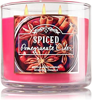 Bath and Body Works Spiced Pomegranate Cider 3 Wick Candle 14.5 Ounce