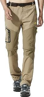 AbelWay Men's Outdoor Windproof Waterproof Quick Dry Pants Hiking Mountain Cargo Trousers