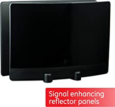 GE UltraPro Optima Black Indoor TV Antenna, Signal Enhancer, Reflector Panel, Hdtv..