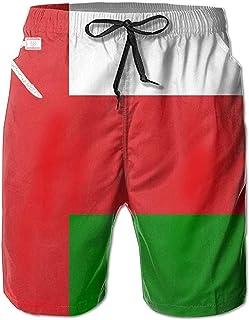 Bernice Winifred Flag of Oman Casual Men Bañador de Secado rápido Pantalones Cortos de Playa Pantalones