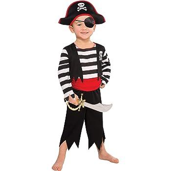 Amscan 997025 Kinderkostüm Deckhand Pirat, Mehrfarbig, 3-4 Jahre