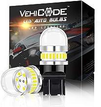 لمبة إضاءة سيارة LED فائقة السطوع 950Lms 7443 مزدوجة التلامس (6000K أبيض) عدة - 7440 7441 7444 T20 992 W21W WY21W بديلة لع...