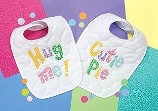 Dimensions Stamped Cross Stitch 'Hug Me' and 'Cutie Pie' DIY Baby Bibs, 2 pc, 9