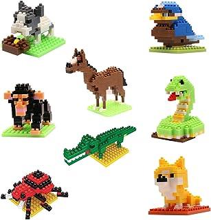 Mini Building Blocks Animals Sets , FUBARBAR 8 Types Lovely Mini Building Blocks Gift and Party Favors for Kids, Nanoblock...