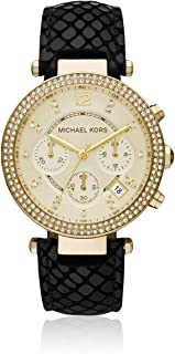 Michael Kors Casual Watch Analog Display Japanese Quartz For Women Mk2316, Black Band
