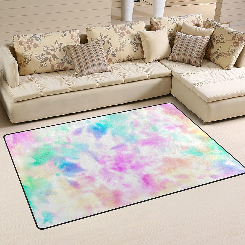 Watercolor Tie wholesale Dye Large Soft Area Rugs 1 year warranty Playmat Nursery Mat Rug