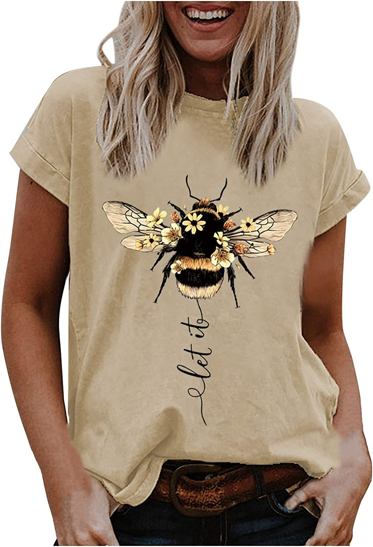 Women's Casual Summer Tops Fun Animal Print Short-Sleeved T-Shirt Blouses