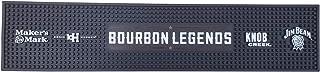 """Bourbon Legends Bar Mat Spill Rail Officially Licensed Mat - 23.5"""" x 5.0"""" - Maker's Mark, Basil Hayden, Knob Creek, Jim Beam"""