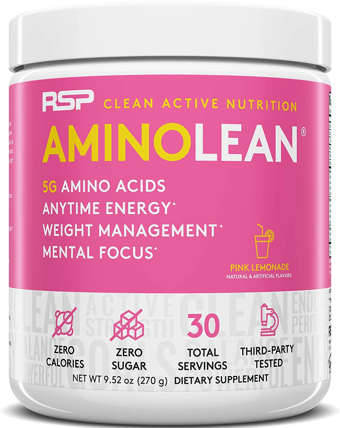 RSP AminoLean - All-in-One Long-awaited Pre Weight Man Workout Rapid rise Energy Amino