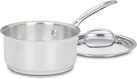 Cuisinart Chef's Classic Stainless Saucepan with Cover, 1 1/2 Quart, 719-16