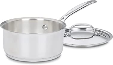Cuisinart Chef's Classic Stainless Saucepan with Cover, 1 1/2 Quart, 719-16 Silver
