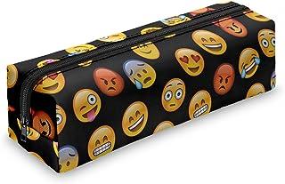 Fringoo - Estuche con cremallera, diseño de emoticonos, color Emoji Black