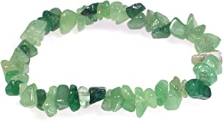 Bracciale in pietra avventurina verde.