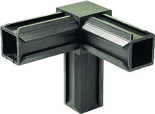 GAH-Alberts 426347 XD-buisverbinding, 90° en een haakse afvoer, kunststof, zwart, 20 x 20 x 1,5 mm, set van 10