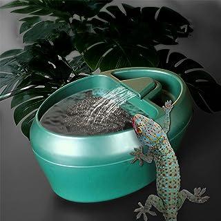 Dispensador de agua para reptiles: sistema automático de doble filtro, fuente de agua de camaleón de circulación que propo...