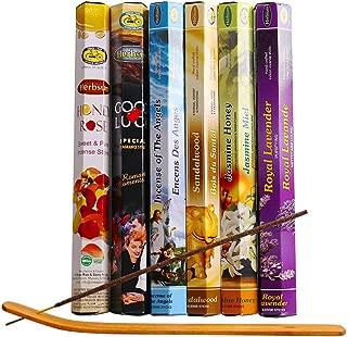 Herbsum Premium Incense Sticks, Royal Lavender, Jasmine Miel, Honry Rose, Sandalwood, Good Luck, Incense of The Angels, 18 Sticks Per Box(with Free Incense Holder)