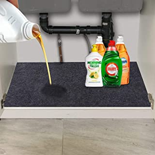 CONVELIFE Under The Sink Mat,Kitchen Tray Drip,Cabinet,Absorbent Felt Layer Material,Backing Waterproof(36inches x 24inches)