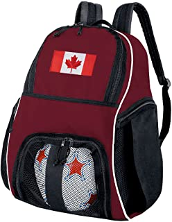 Canada Flag Soccer Backpack or Volleyball Bag Maroon