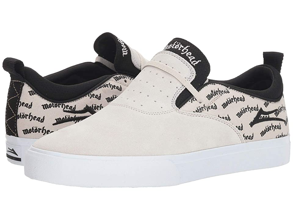 Lakai Riley 2 X Motorhead (White/Black Suede) Men