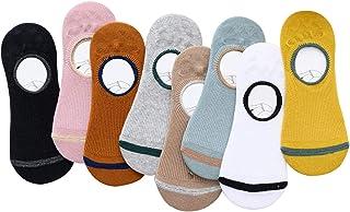Calcetines Invisibles Deportivos Casual con Silicona Antideslizant para Niñas, Niños, Hombres, Mujeres, Calcetine Tobillero de Algodón, Suave, Transpirable para Familias y Amantes - 8 Pares