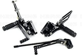 R/ückseite Fu/ßrasten Fu/ßrastenhalter Set for Suzuki GSXR1000 GSXR 1000 2003-2004
