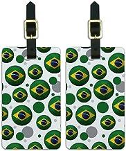 Graphics & More Futbol Football Country Brazil Flag Soccer Ball, White